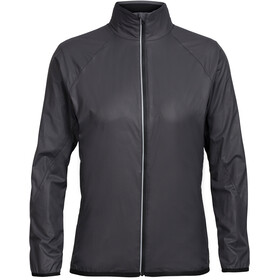 Icebreaker Rush Windbreaker Jacket Women black/embossed